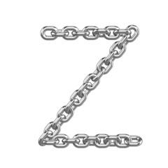 3d Chain Alphabet Font - Z