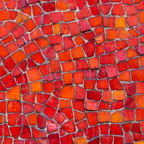 Sticker Mosaik rot