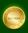 golden success symbol