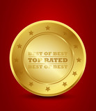 golden top rated badge