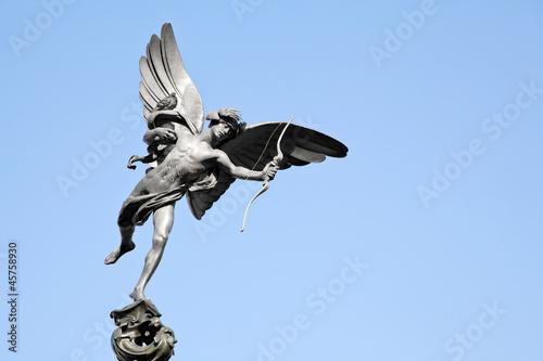 Leinwanddruck Bild Eros statue Piccadilly London