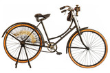 Vintage early twentieth century bicycle isolated on white