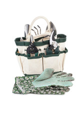 gardening tool bag and gloves