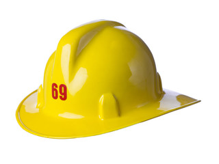 yellow fireman helmet
