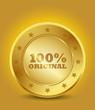 golden 100% original seal