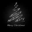Merry Christmas - Hintergrund - Baum - Rot/Schwarz