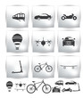 Vector Set of transport icons and navigator
