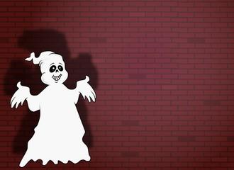 das Gespenst an der Mauer