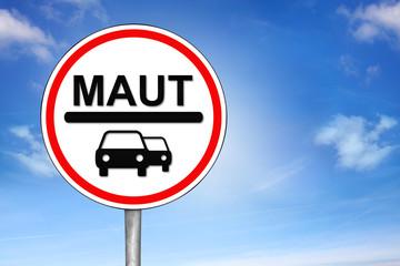 Verkehrszeichen Maut