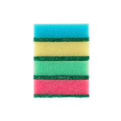 Set of colored sponges