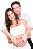 Pregnant couple in love