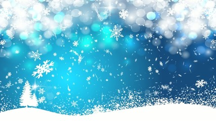 Blue snowing background