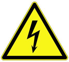 Warnzeichen - elektrische Spannung