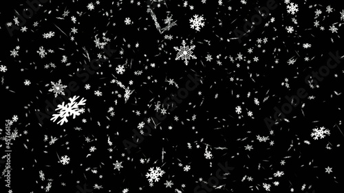Snowfall - black background