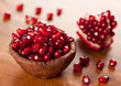 Ripe pomegranate in a bowl