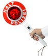 Polizeikelle Halt Polizei Anhaltestab isoliert