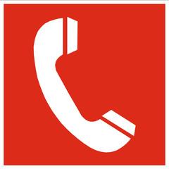Brandschutzzeichen - Telefon