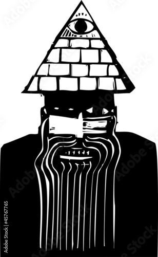 Man with Pyramid Hat