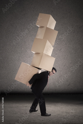 Balance businessman