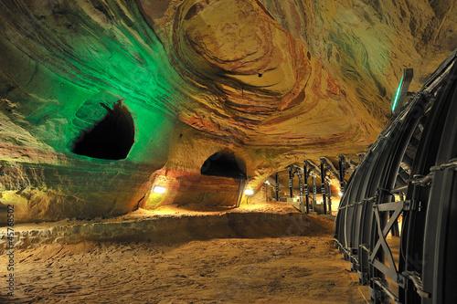 Leinwanddruck Bild Saarland Homburg Schloßberghöhlen
