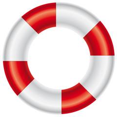 Rettungsring auf weißem Hintergrund