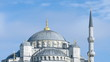 Closeup view to Sultan Ahmed (Blue) Mosque. Time-lapse video. Is