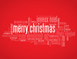 """MERRY CHRISTMAS"" Card (happy xmas season's greetings message)"