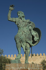 Statue of Ibn Marwan 2. Founder of Badajoz