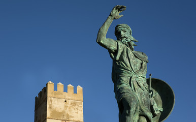 Statue of Ibn Marwan. Founder of Badajoz