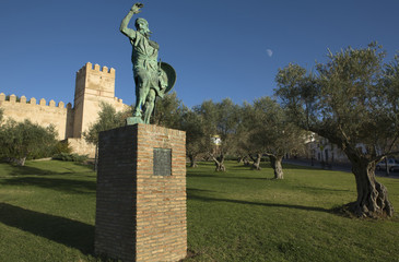 Statue of Ibn Marwan 4. Founder of Badajoz