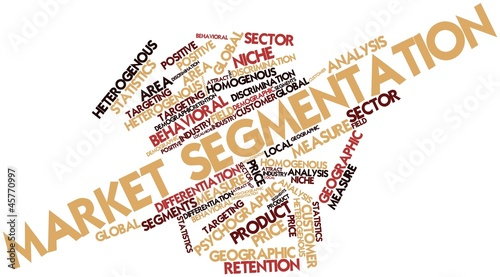 Word cloud for Market segmentation