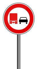Verbotsschild RAL 3001 signalrot - LKW Überholverbot