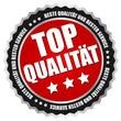 """Button """"Top Qualität"""" Rot/Schwarz/Silber"""
