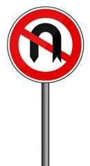 Verbotsschild RAL 3001 signalrot - Wendeverbot