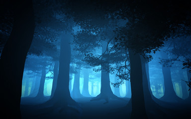 dark blue forest