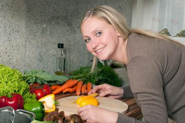 Gesundes Essen und die Essenszubereitung. Exklusiv.