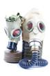 gas masks isolated on white background