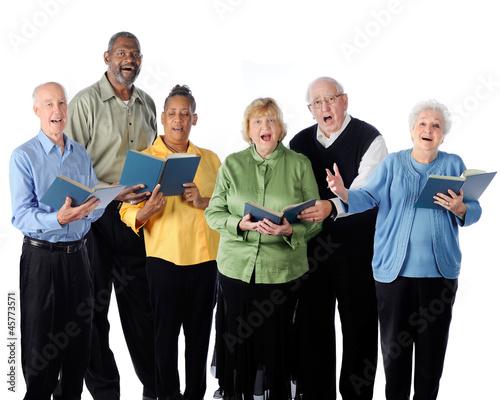 Leinwanddruck Bild Singing Seniors