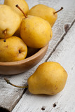 Yellow Sweet Pears  in a Bowl