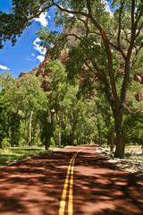 Zion red road