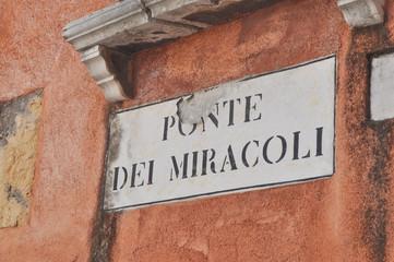 Campo dei Miracoli Venice