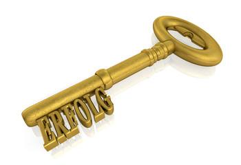 Schlüssel zum Erfolg - Gold