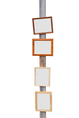 Picture Frame on wooden pole