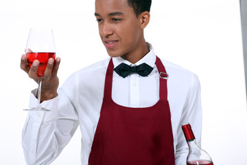 young wine waiter