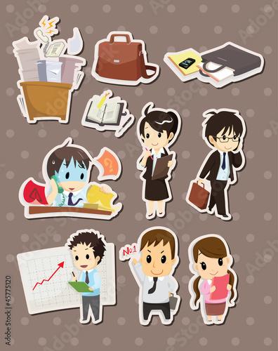 office worker stickers