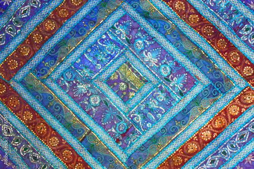 Inde - patchwork bleu