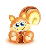 Whimsical Kawaii Cute Chipmunk poster