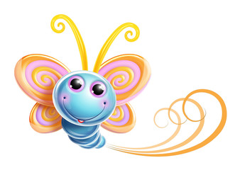 Whimsical Kawaii Cute Butterfly