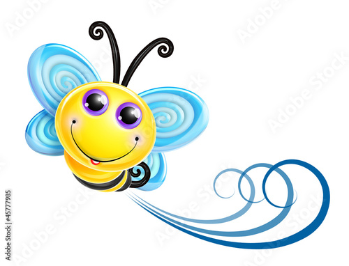 Whimsical Kawaii Cute Bee