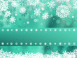 Green christmas background with snowflake. EPS 8